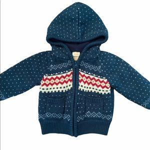 ✨3 for $30✨Baby Boys Full Zip Knit Hoodie 18-24M